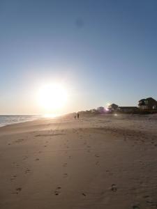 sun setting on the east coast