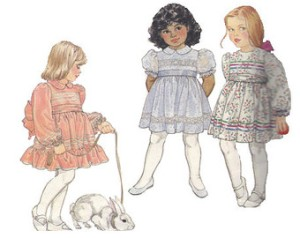 drawings of girls in frilly dresses